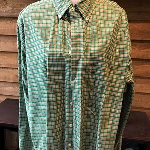NWOT, RL, LS Button Down Green Plaid Shirt SZ XLT